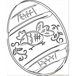 Pysanka Free Coloring Page for Kids