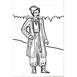 Ukrainian Man Free Coloring Page for Kids
