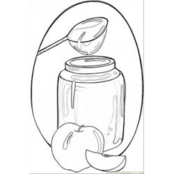 Honey And Apples Free Coloring Page for Kids