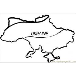Map Of Ukraine Free Coloring Page for Kids