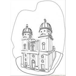 Ukrainian Church Free Coloring Page for Kids