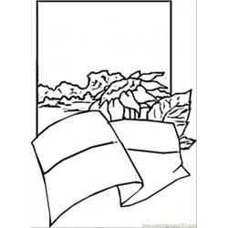 Ukrainian Flag And Sunflowers Free Coloring Page for Kids