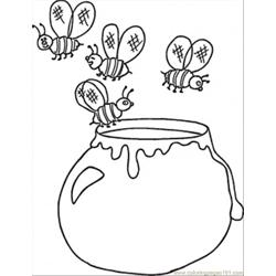 Ukrainian Honey Free Coloring Page for Kids