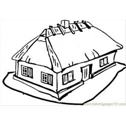 Ukrainian House Free Coloring Page for Kids