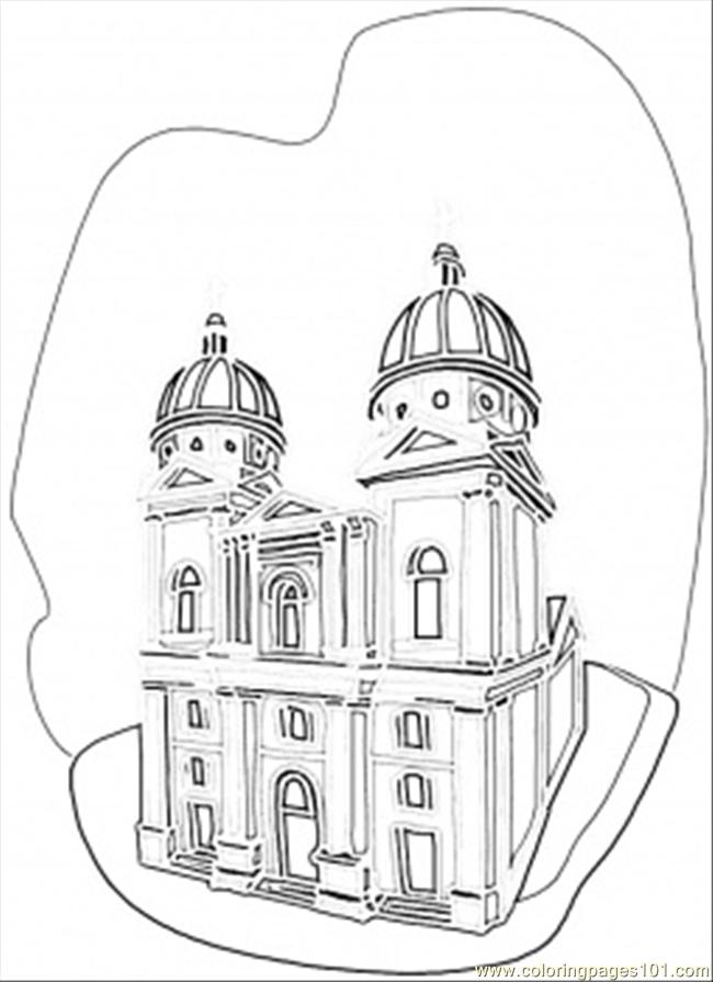 Ukrainian Church Coloring Page