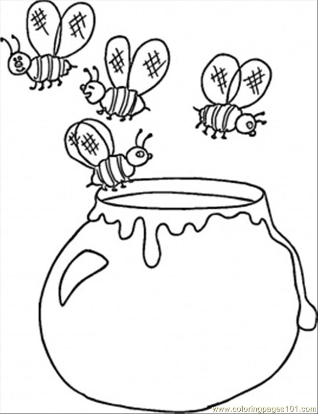 Ukrainian honey coloring page