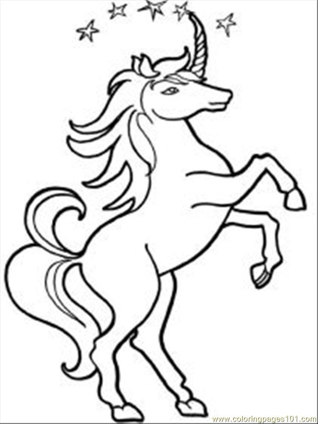 Unicorn 12 Med Coloring Page Free Unicorn Coloring Pages