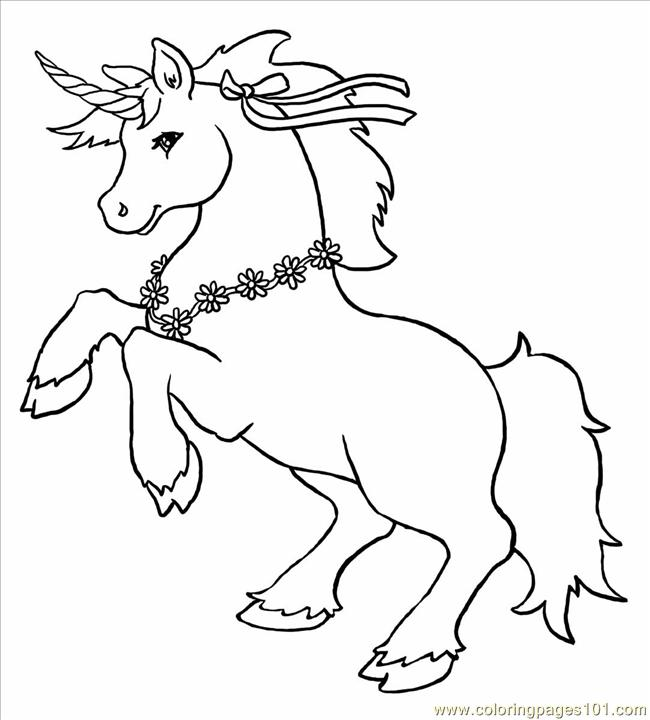 Unicorn Big Coloring Page Free Unicorn Coloring Pages