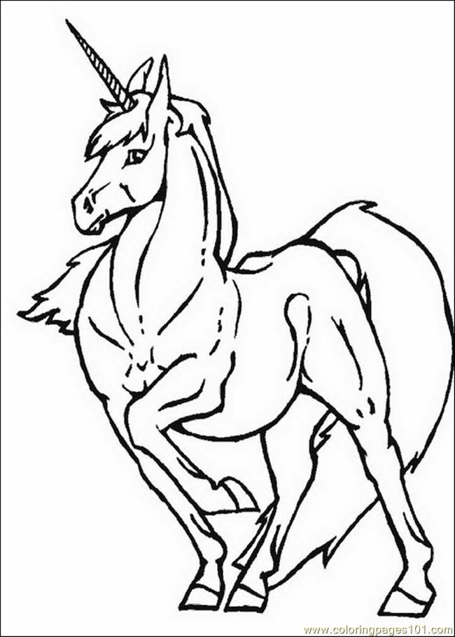 Unicorns 26 Coloring Page Free