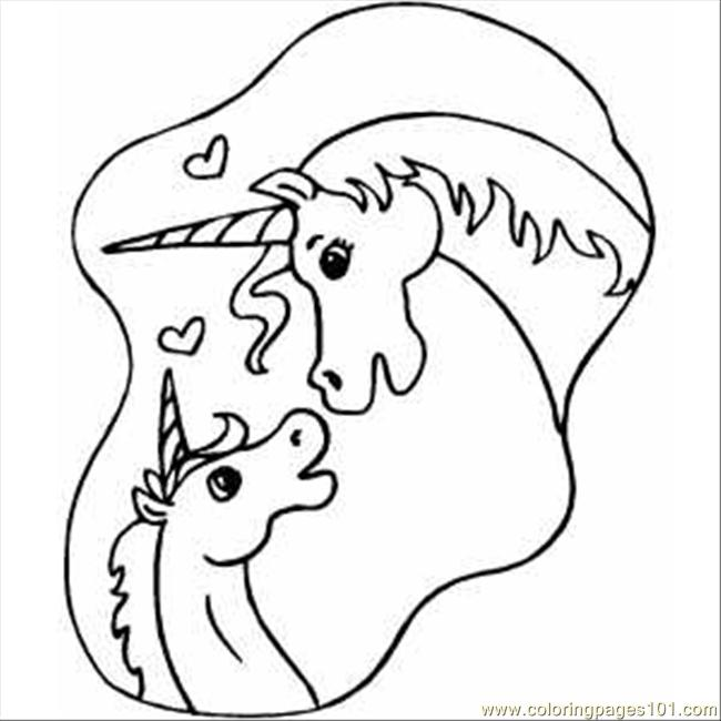 Unicorns In Love Coloring Page Free Unicorn Coloring Pages