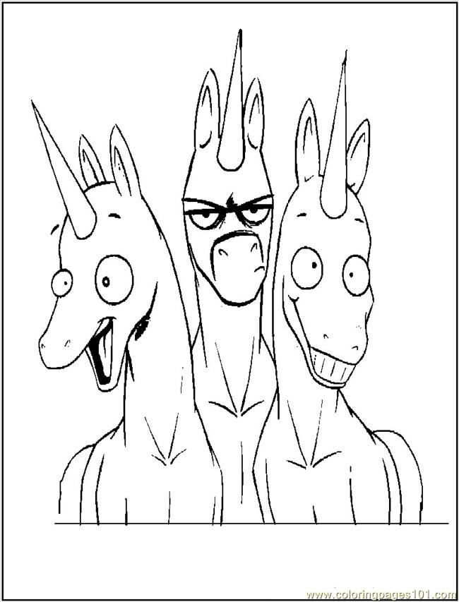 Funny Unicorns Coloring Page Free Unicorn Coloring Pages