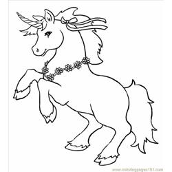 Unicorn Big coloring page