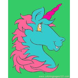 Unicornhead Free Coloring Page for Kids