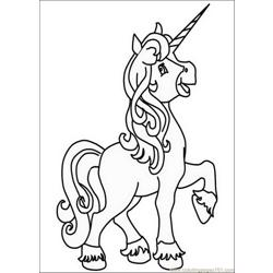 Unicorns007 Free Coloring Page for Kids