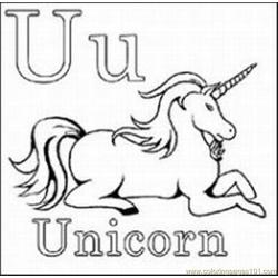 Unicorn 88 Med coloring page