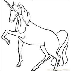 Unicorncoloringposingthumbnail Free Coloring Page for Kids
