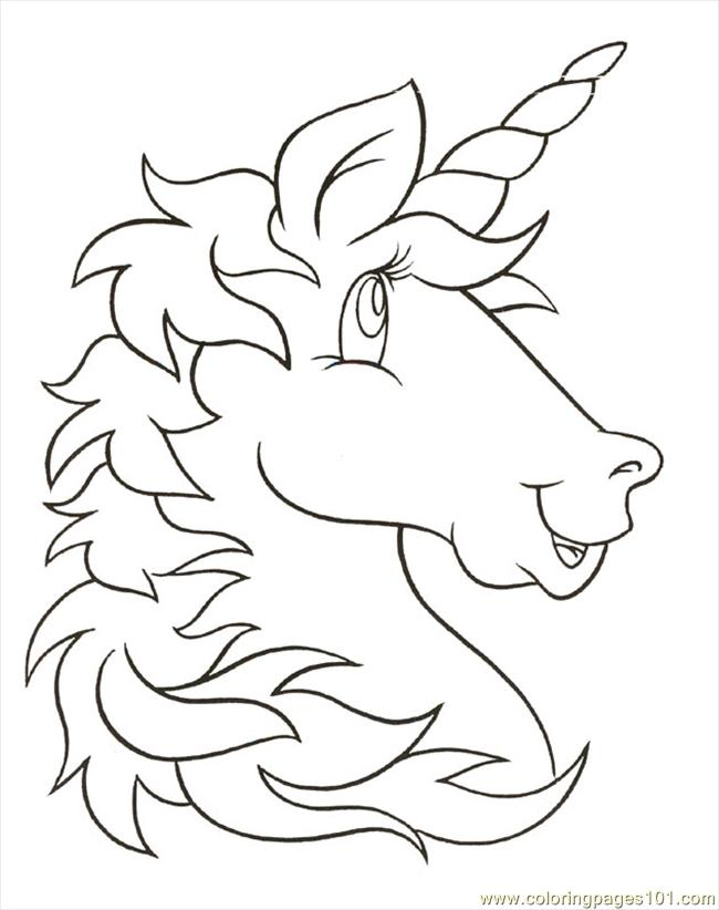 Unicornhead Coloring Page Free Unicorn Coloring Pages