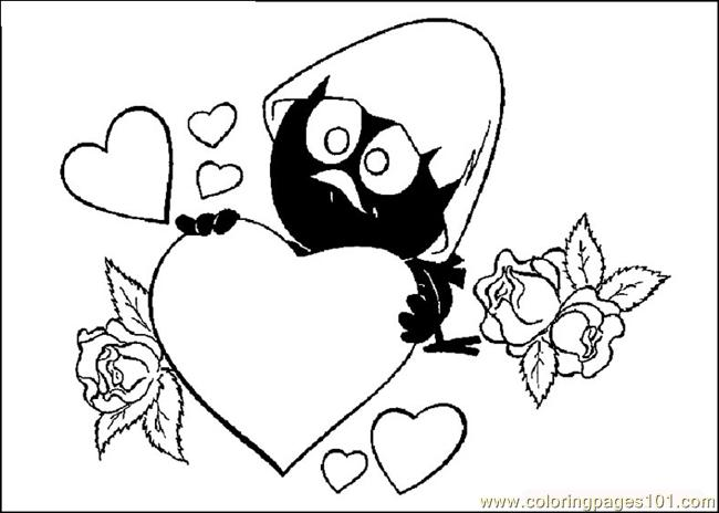 Valentines Day 04 Coloring Page