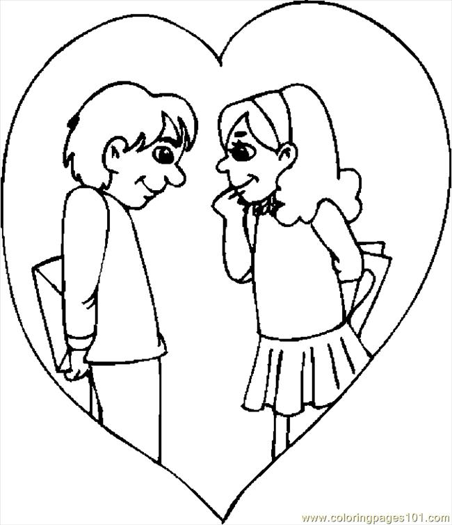Couple In Love 09 Coloring Page
