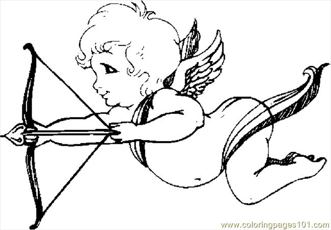 Cupid 01 Coloring Page
