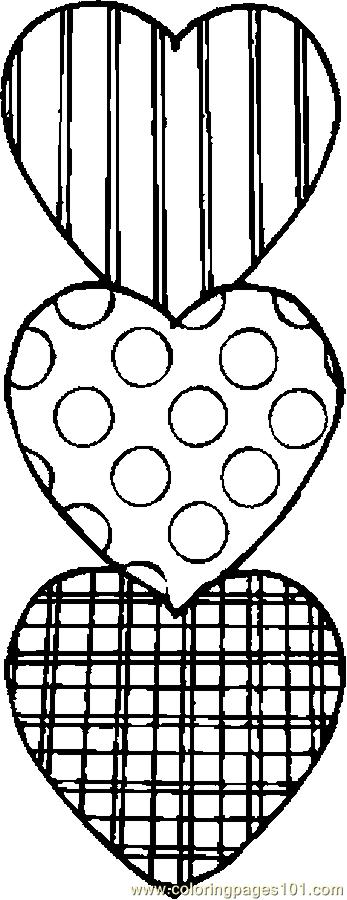 hearts 39 coloring page free valentines day coloring