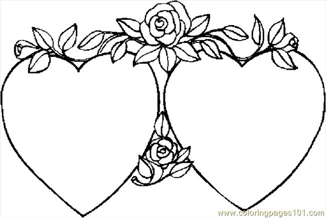 Hearts 40 Coloring Page Free Valentines Day Coloring Pages