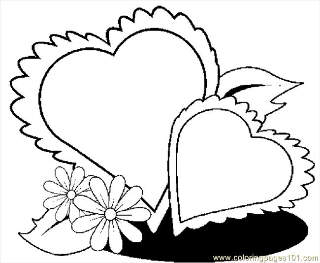Hearts 51 Coloring Page Free Valentine S Day Coloring