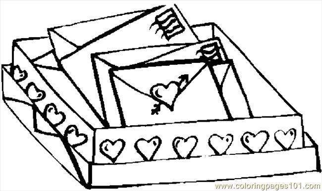 Love Letters Coloring Page