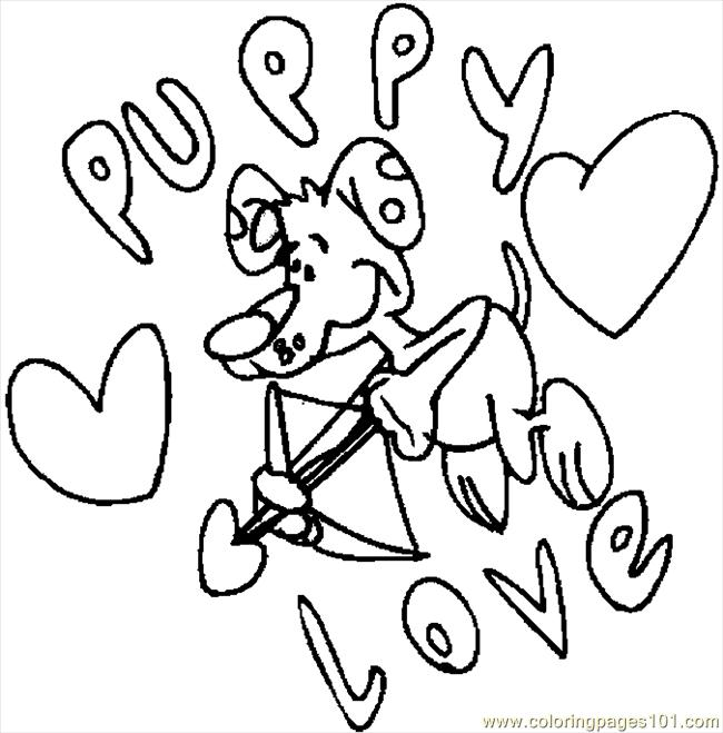 Puppy Love 2 Coloring Page