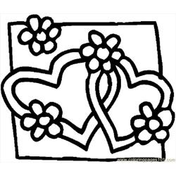 Hearts 08 Free Coloring Page for Kids