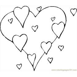Hearts 34 Free Coloring Page for Kids