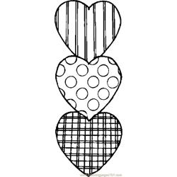 Hearts 39 Free Coloring Page for Kids