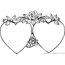 Hearts 40 Free Coloring Page for Kids