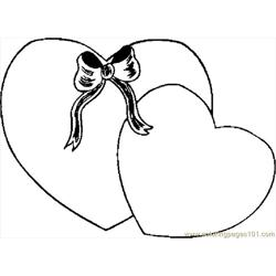 Hearts 44 Free Coloring Page for Kids