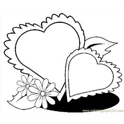 Hearts 51 Free Coloring Page for Kids
