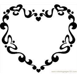 Valentine Frame 1 Free Coloring Page for Kids