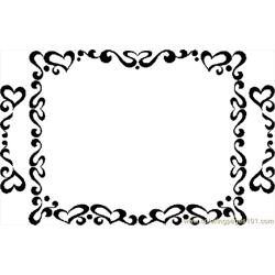 Valentine Frame 2 Free Coloring Page for Kids