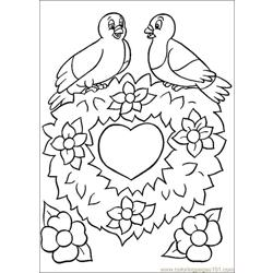 Valentines Day Coloring 06 Free Coloring Page for Kids