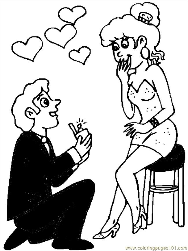 couples2 free coloring pages - photo#11