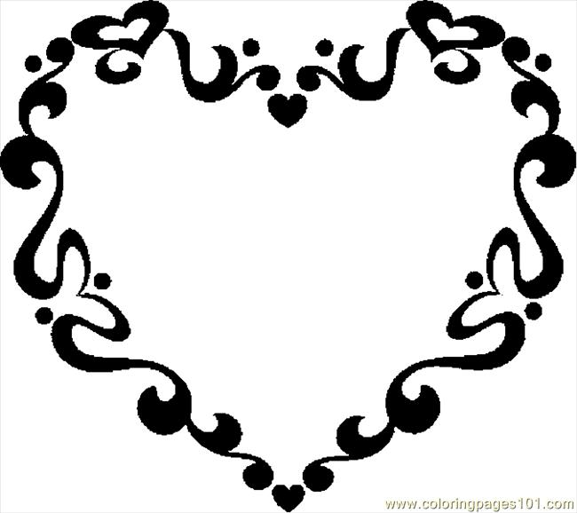 Valentine frame 1 coloring page