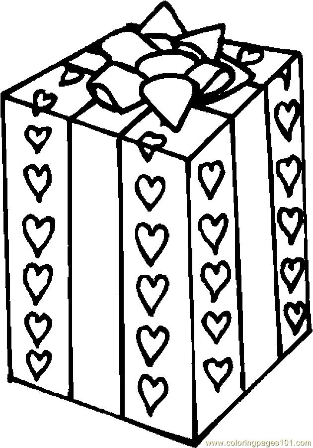 Valentine Gift 2 Coloring Page Free Valentine S Day