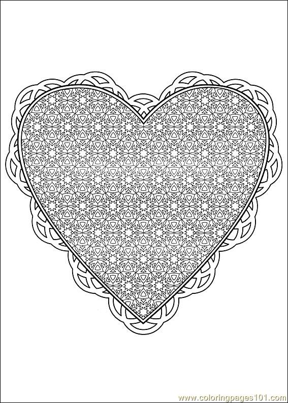 Valentine Day Coloring 25 Coloring Page