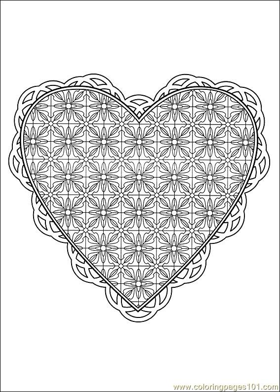 Valentine Day Coloring 30 Coloring Page