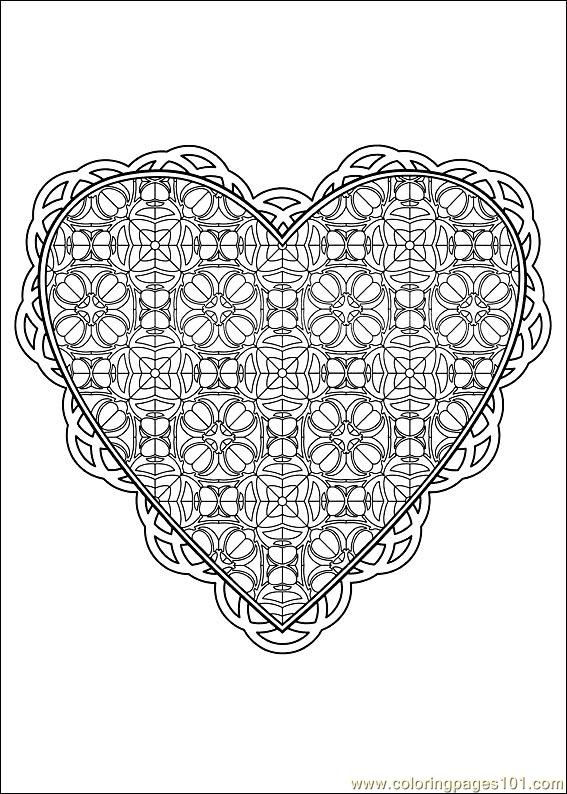 Valentine Day Coloring 40 Page