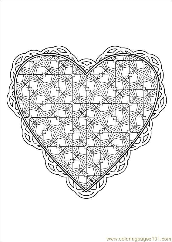 Valentine Day Coloring 45 Coloring Page