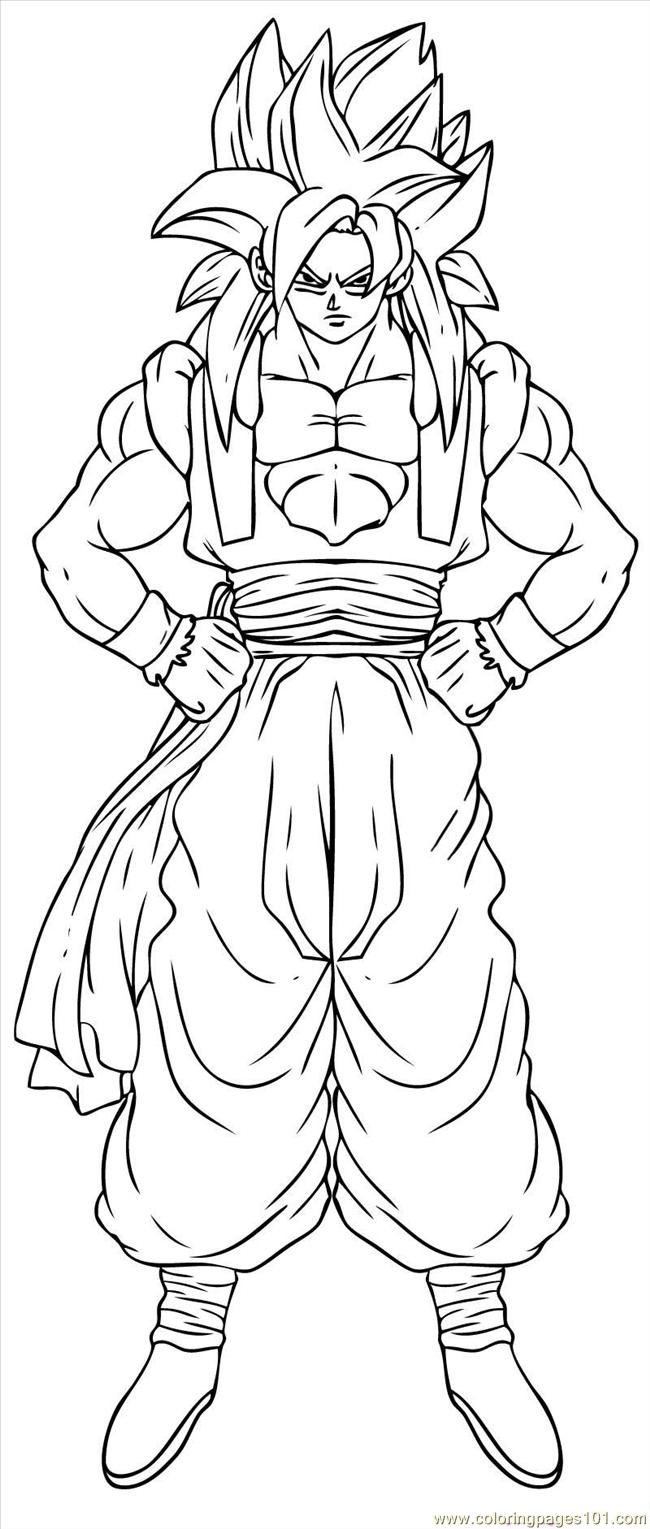 vegeta coloring pages