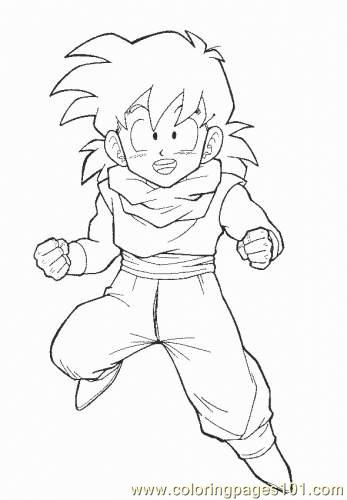 Ball Z Gohan  3 Coloring Page