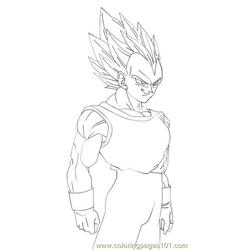 Vegeta1lineart By Imran Ryo Free Coloring Page for Kids
