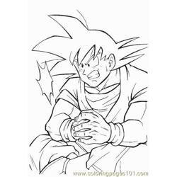 Vegeta2 Free Coloring Page for Kids