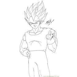 Vegeta 3 Line Art By Hirokada